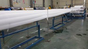 Test Run of EPE foam sheet extruder