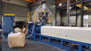 Non-crosslinked PE foam extruder